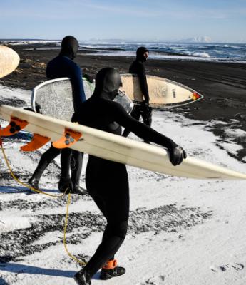 Surfing in Kamchatka
